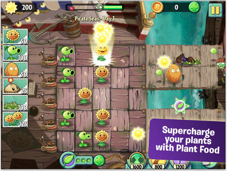 Screenshot Plant Versus Zombie 2