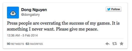Tweet dari sang Pembuat Flappy Bird