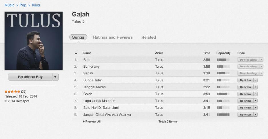 Beli Album di iTunes