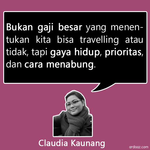 quote claudia kaunang