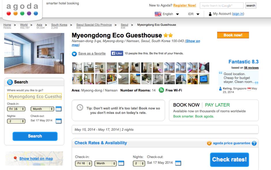 Pesan hotel praktis di Agoda