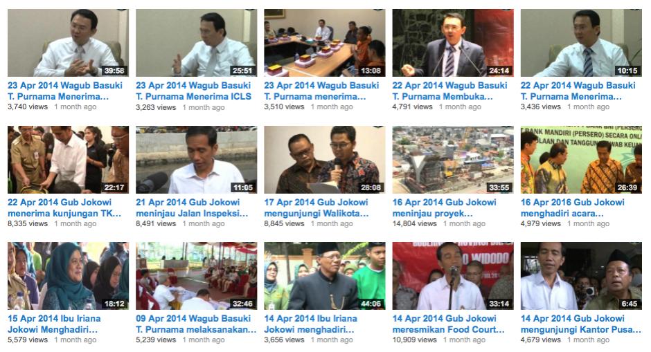 Kumpulan Video Kegiatan Pak Jokowi dan Pak Ahok