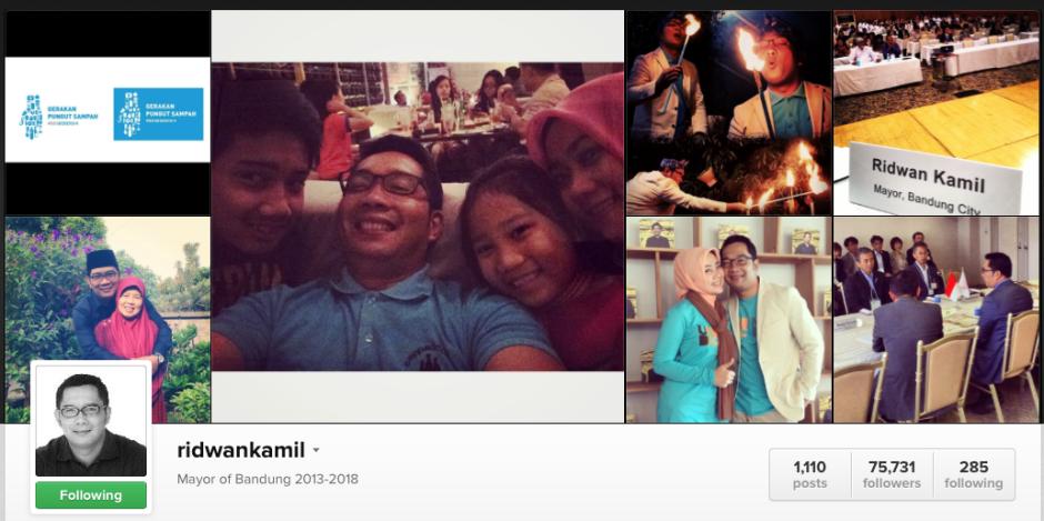 Kumpulan Postingan Foto Pak Ridwan Kamil di Instagram