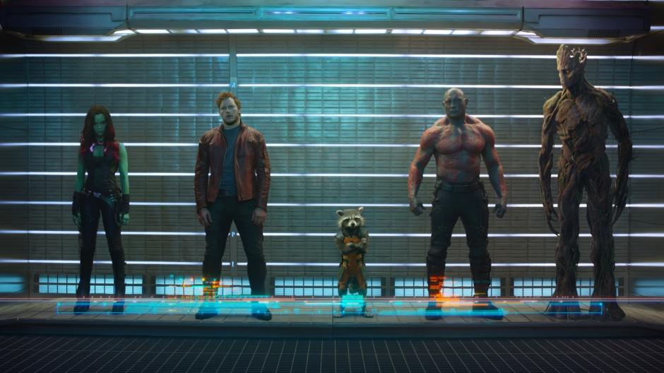 Kelima tokoh di Guardians of the galaxy