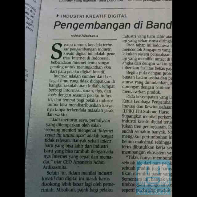 Artikel tentang Industri Kreatif di Bandung