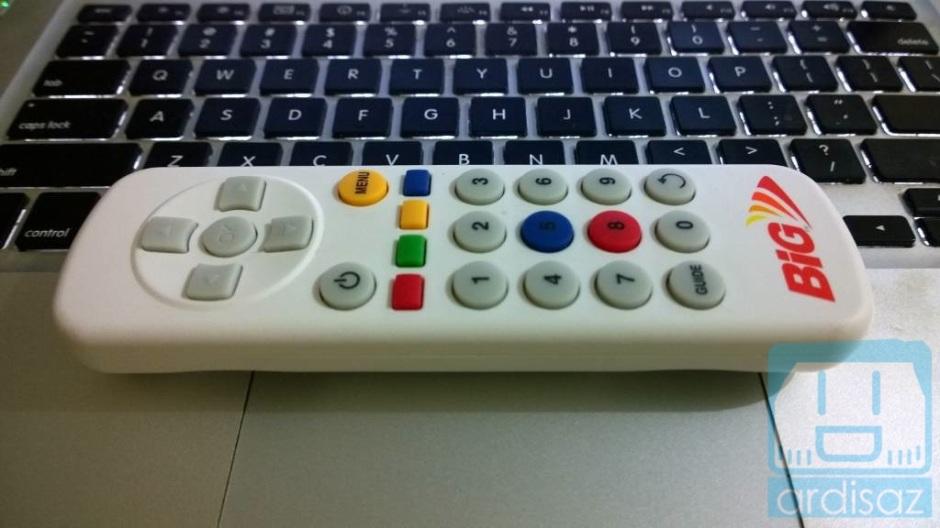 Desain remote yang kurang pas di tangan