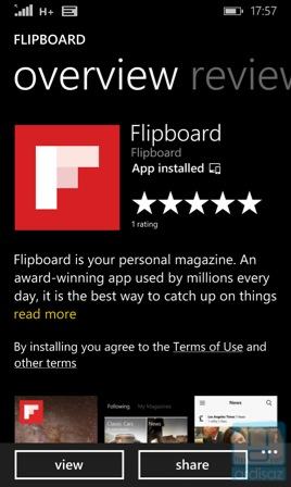 Download Flipboard di Windows Phone