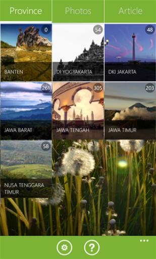 WisataLokal untuk Windows Phone