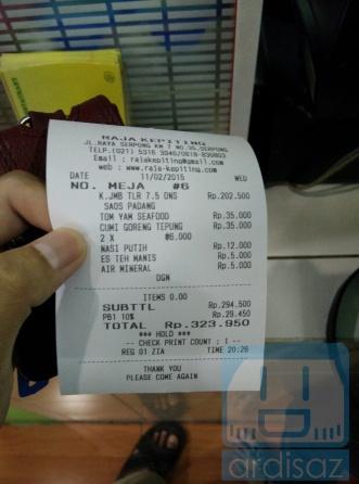 Total Biaya Makan Berdua