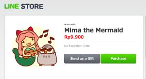 sticker line mima the mermaid