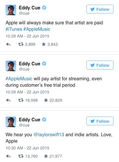 respond Eddy Cue di Twitter
