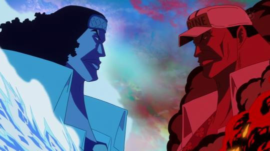 Kuzan vs Sakazuki