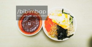 bibimbap nasi pecel ala korea