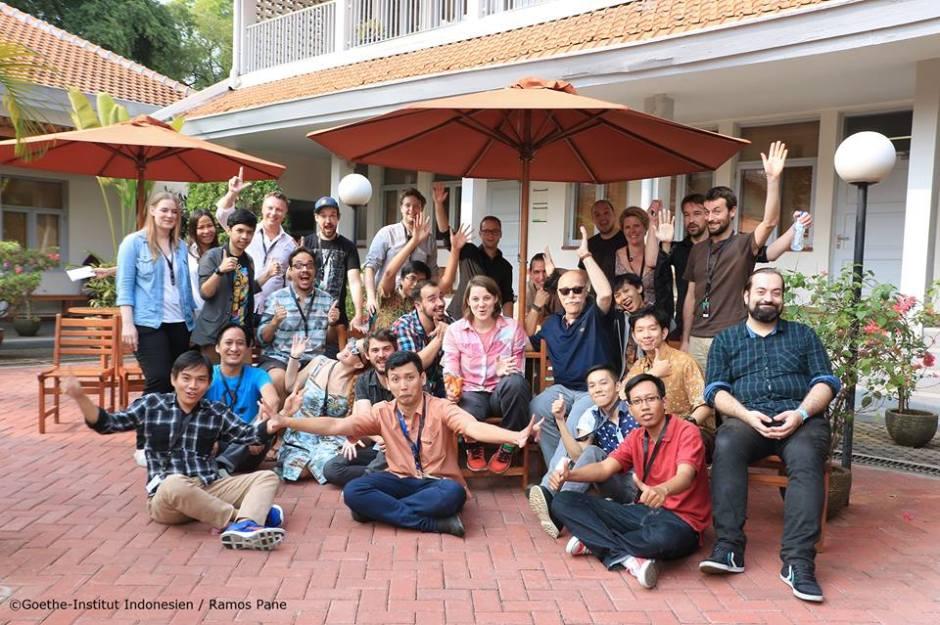 Foto Bersama Game Dev Indonesia dan Game Dev Jerman