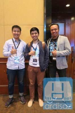Bertukar kabar dengan Arief (CEO Agate) dan Ajie (CEO Tinker Games)